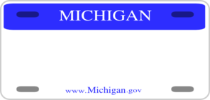 Michigan License Plate Clip Art