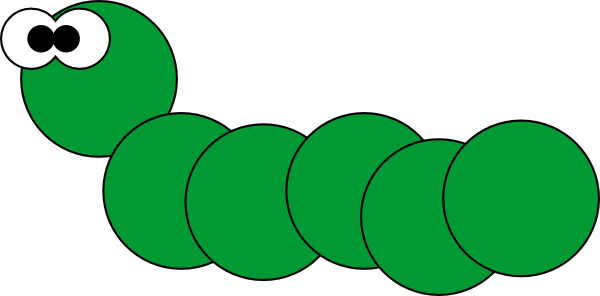 black and white caterpillar clip art. Caterpillar