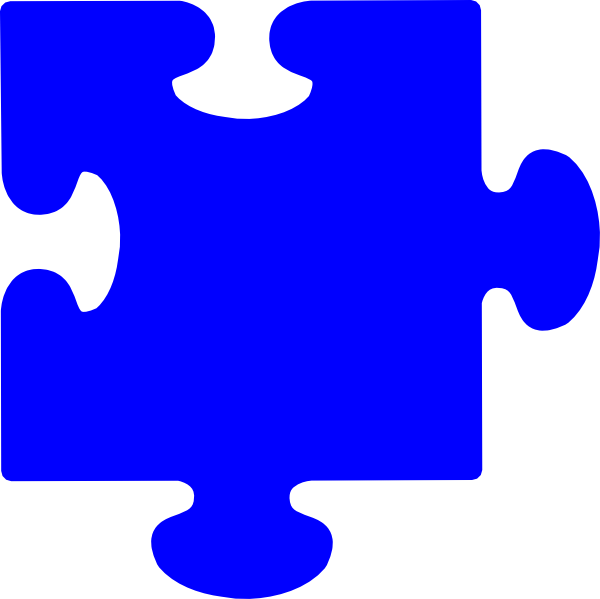 Blue Puzzle Piece Clip Art at Clker.com - vector clip art ...