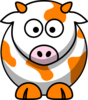 Orange Cow Clip Art