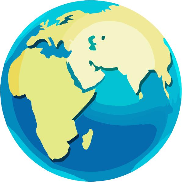 Africa globe clip art at vector clip art online royalty free am - Globe maison du monde ...
