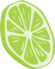 Big Slice Of Lime Clip Art