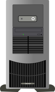 Computer Tower Clip Art