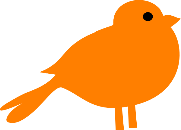 Little orange bird clip art at clker com vector clip art online