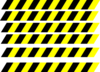 Hazard Stripes Large Clip Art