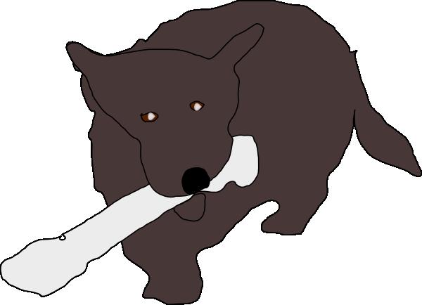 clipart family eating. dog bone clipart. Dog Eating