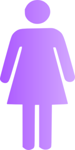 Woman Icon Purple   Clip Art