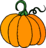 Pumpkin (without Bee) Clip Art