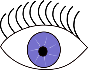 Blue Eye Looks Left Clip Art