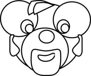 Cartoon Bear Head Outline Clip Art
