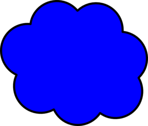 Dark Blue Cloud Clip Art