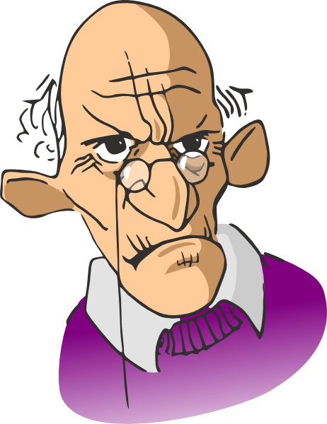 Cartoon old man clipart - ClipartFest