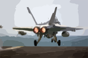 Hornet Launches From The Flight Deck On A Christmas Morning Mission Clip Art