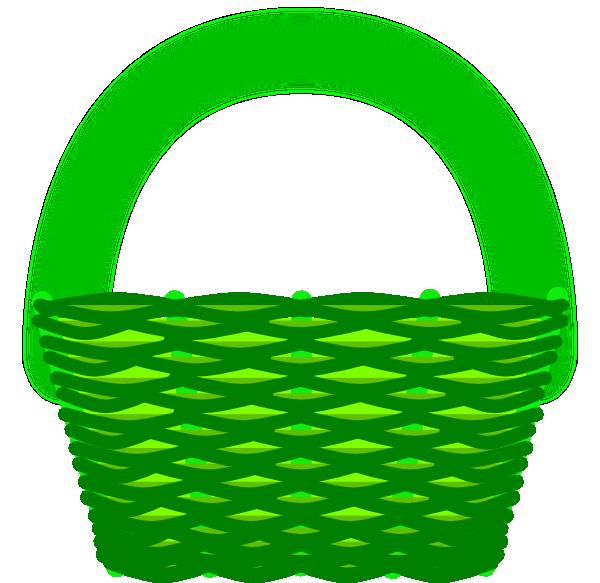 Basket Clip Art : Green basket clip art at clker vector