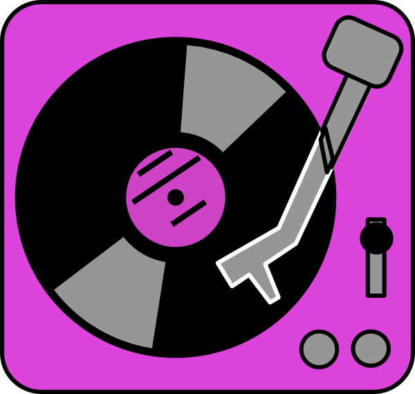 purple turntable clip art at clkercom vector clip art