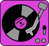 Purple Turntable Clip Art