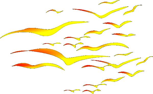 Sunset Birds Clip Art at Clker.com - vector clip art online, royalty ... Eagle Silhouette Vector