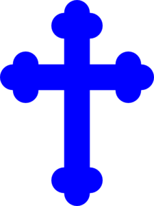 Royal Blue Cross Clip Art