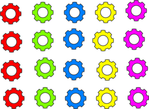 Colorful Gears Clip Art