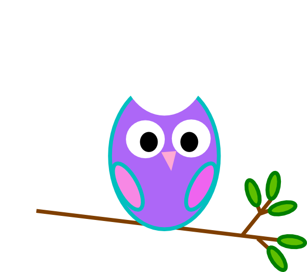 Purple owl clip art at vector clip art online for A cartoon owl