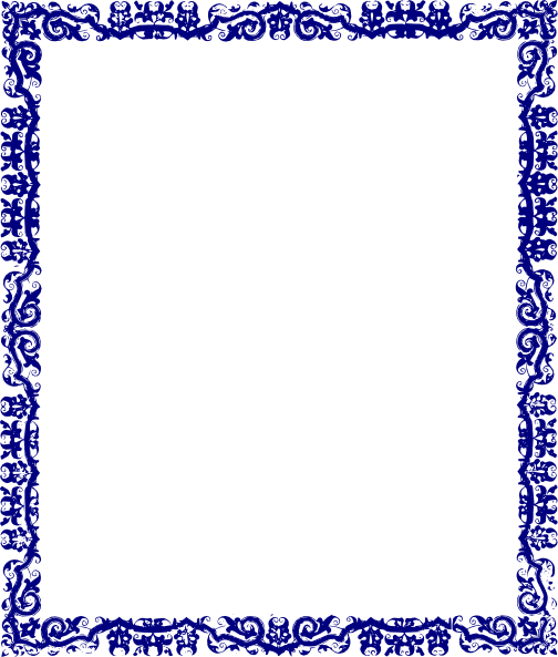 Blue Page Border Designs