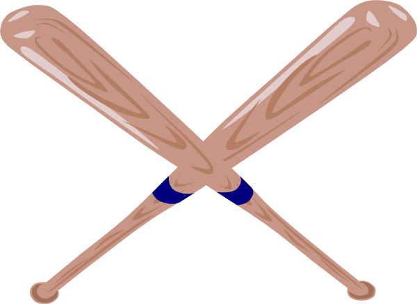 Crossed Baseball Bat Clip Art at Clker.com - vector clip art online ...