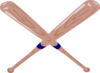 Crossed Baseball Bat Clip Art
