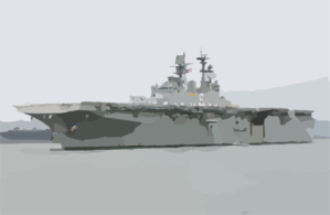 Uss Bonhomme Richard (lhd 6) Pulls Into San Diego Harbor Clip Art