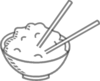 Rice Bowl Grey Clip Art