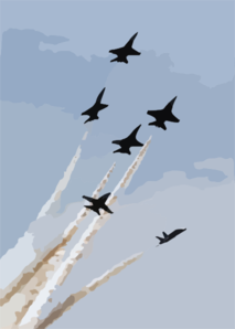 The U.s. Navy Blue Angels Flight Demonstration Team Performs Special Flight Manuvers Clip Art