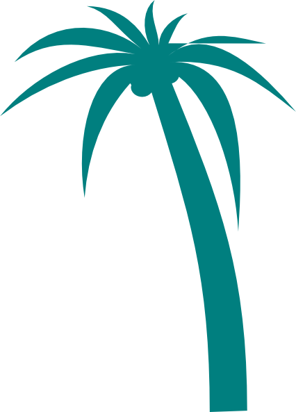 Clkercliparts2oqasjteal palm tree pronofoot35fo Image collections