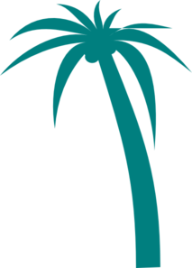 Teal Palm Tree Clip Art