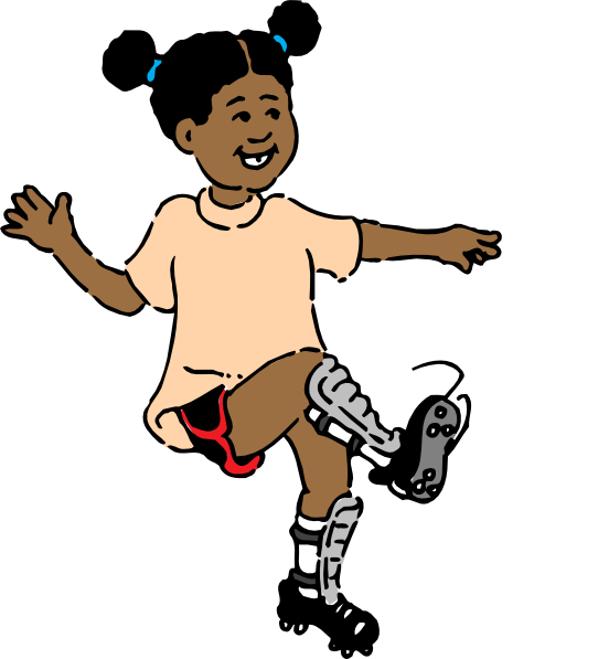 Girl playing soccer cartoon black and white