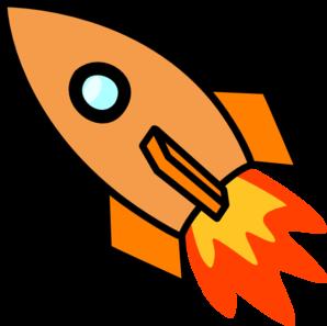Clipart Orange Rocket 1 on Cartoon Astronaut Clip Art