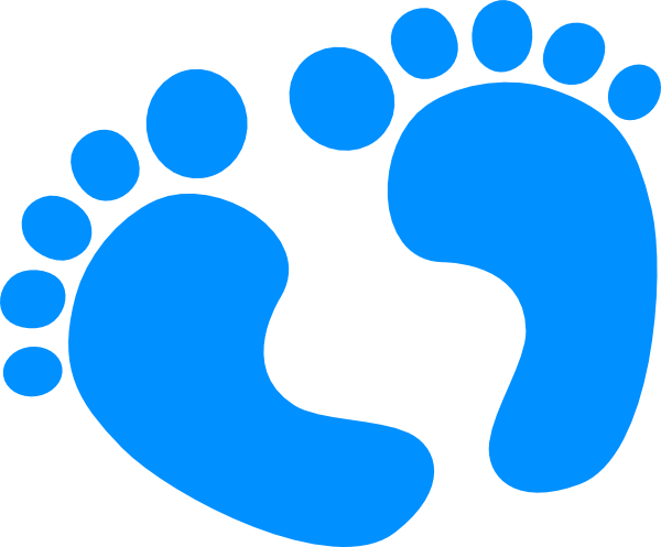 Blue Baby Feet Clip Art at Clker.com - vector clip art ...