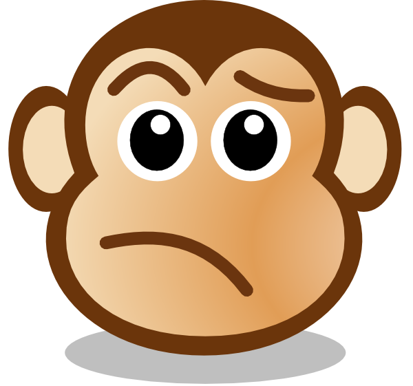 monkey face clip art at clker com vector clip art online royalty rh clker com Confused Person Clip Art Confused Animal Clip Art