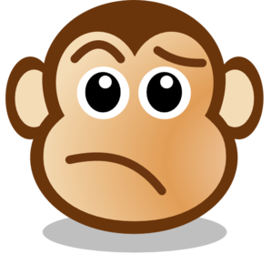 monkey face clip art at clker com vector clip art online royalty rh clker com confused face clip art black and white