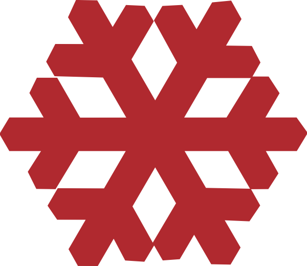 Red Snowflake Clip Art at Clker.com - vector clip art online, royalty ...