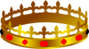 Crown Lit King Red Clip Art