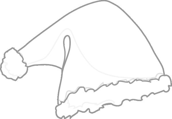 Santa hat vector black and white