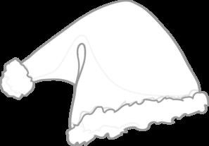 Santa Hat White Clip Art at Clker.com - vector clip art online ...