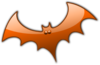 Orange Bat Clip Art