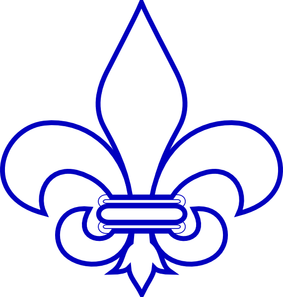 royal blue fleur de lis clip art at vector clip art online royalty free public domain. Black Bedroom Furniture Sets. Home Design Ideas