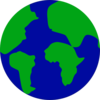 Earth With Continents Separated Clip Art