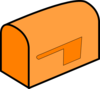 Orange Mailbox Clip Art