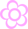 Pink2 Flower Outline Clip Art