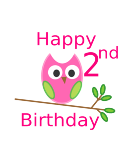 Owl 1st Birthday Clip Art
