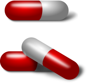 Red And White Pills Clip Art