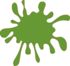 Green Splat Clip Art