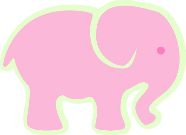 clip art pink elephant - photo #13